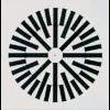 Stropný difuzér s nastaviteľnými plastovými lamelami VWR-3VX (RAL 9016) kovový