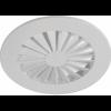 Vírivý stropný difuzér s pevnými lamelami RWR-N (RAL9016)