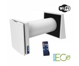 Rekuperácia vzduchu do jednej miestnosti BLAUBERG VENTO Expert A50-1 W-WI-FI-možnosť riadenia z mobilného telefónu -priemer potrubia 160mm výkon nastavitelný od-15/ 50m3/h