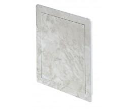 Plastové revízne dvierka AD 150x150 Mramor strieborný