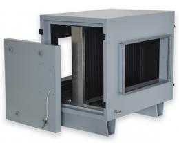 HRS CB 800x500 H1+F4 - 1 radová s teplovodným + 4 radová DX kaloriferom (HRS 3500, 5500)