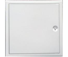 Kovové biele H 400x400mm zatváranie štvorhran+plastový kľúčik