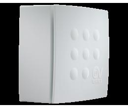 Radiálny ventilátor VORT QUADRO MICRO 100TH s časovým dobehom+parový senzor dvojrýchlostný výkon 60-90m3/h-priemer 100mm+spätná klapka
