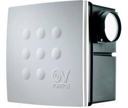 Radiálny ventilátor VORT QUADRO MICRO I 100T-časový dobeh dvojrýchlostný výkon 75-110m3/h-priemer 100mm+spätná klapka+2 napojenia-zápustný