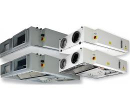 HRS C 400 E 3.0 EKO - Efektivita: 90% - Krytie: IP54 - Filter: F7/F5 - s elektrickým ohrievačom 3.0kW