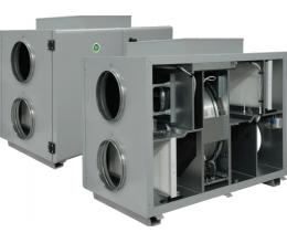 HRS-R H 1200 W EKO - Efektivita: 75% - Krytie: IP54 - Filter: M5/F7 - s vodným predohrevom