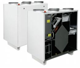HRS V 1200 EL EKO - Efektivita: 90% - Krytie: IP54 - Filter: M5 od/prisávanie: 0.435 /2.9 kW/A - s ľavým prípojom a elektrickým ohrievačom