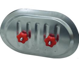 RPDR-C71 / 80-Revízne dvierka pre potrubie710/800 mm-rozmery dvierok-400 x 300 mm