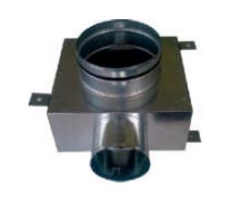 CAIRflex - CF-75 - Redukcia na tanierové ventily - krátke - 1x 75/50 - 1x 125/50