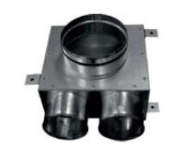 CAIRflex - CF-75 - Redukcia na tanierové ventily - krátke - 2x 75/50 - 1x 125/50