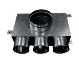 CAIRflex - CF-75 - Redukcia na tanierové ventily - krátke - 3x 75/50 - 1x 125/50