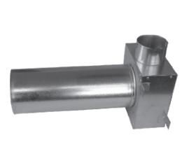 CAIRflex - CF KLO - Redukcia na tanierové ventily - predĺžené - 1x 75 /50 - 1x 125 / 320