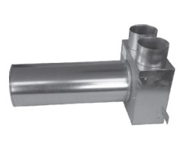 CAIRflex - CF KLO - Redukcia na tanierové ventily - predĺžené - 2x 75 /50 - 1x 125 / 320
