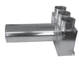 CAIRflex - CF KLO - Redukcia na tanierové ventily - predĺžené - 3x 75 /50 - 1x 125 / 320