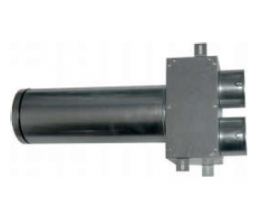 CAIRflex - CF SRP - Prechod strop / stena na tanierový ventil 2x75/125mm - Dlžka: 330mm