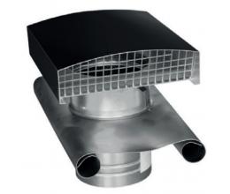 CT - Strešný prechod kovový - 200mm - Čierna - Golier olovený