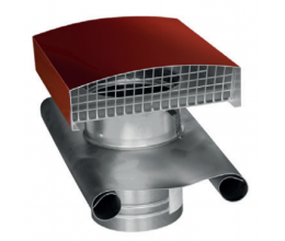 CT - Strešný prechod kovový - 355mm - Červená - Golier olovený