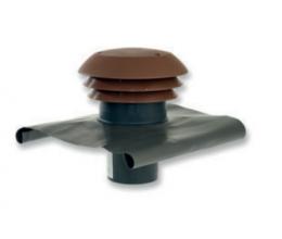 CTA - Strešný prechod plastový - 125mm - Červená - Golier olovený