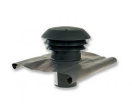 CTA - Strešný prechod plastový - 160mm - Čierna - Golier olovený