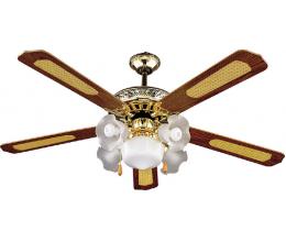 Stropný ventilátor s osvetlením SHD52-5C5L-svetlo medená rozpätie 132cm